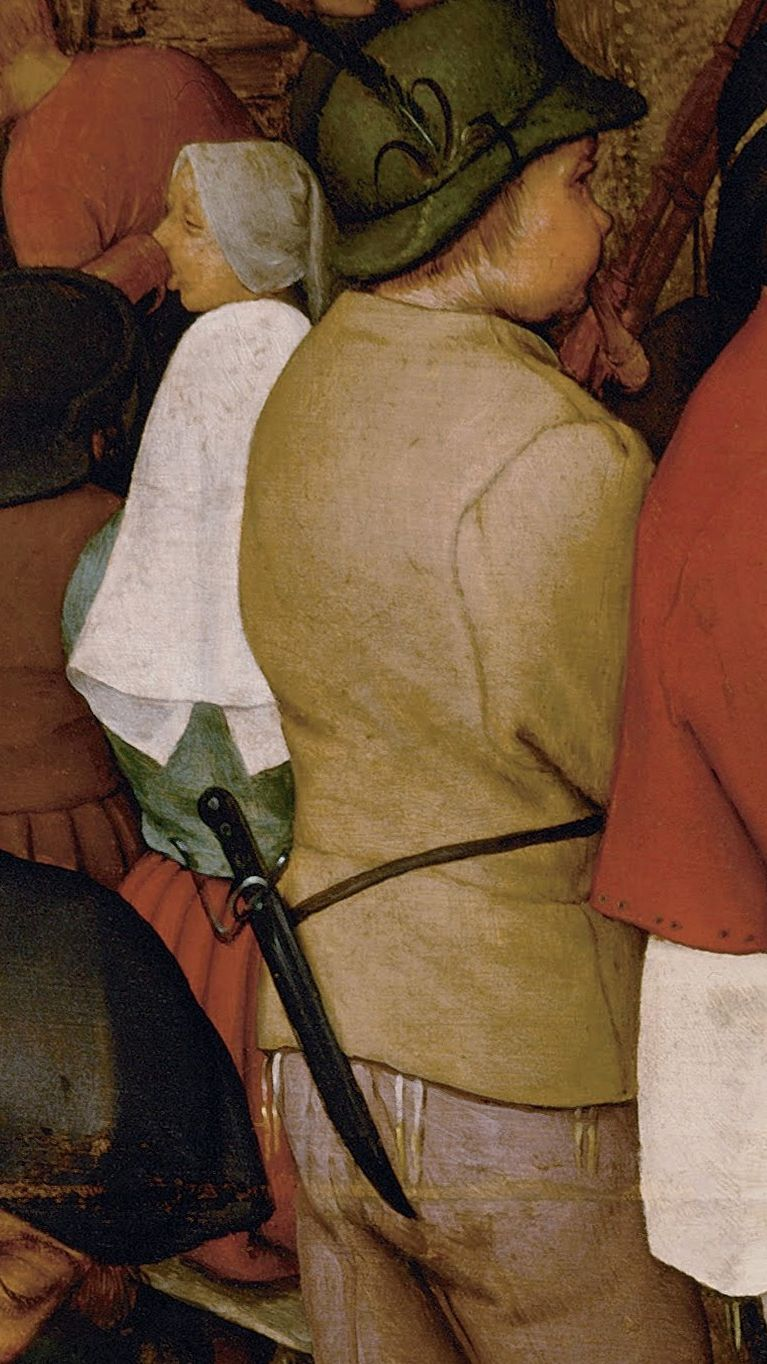Peasant Wedding Pieter Bruegel Elder detail