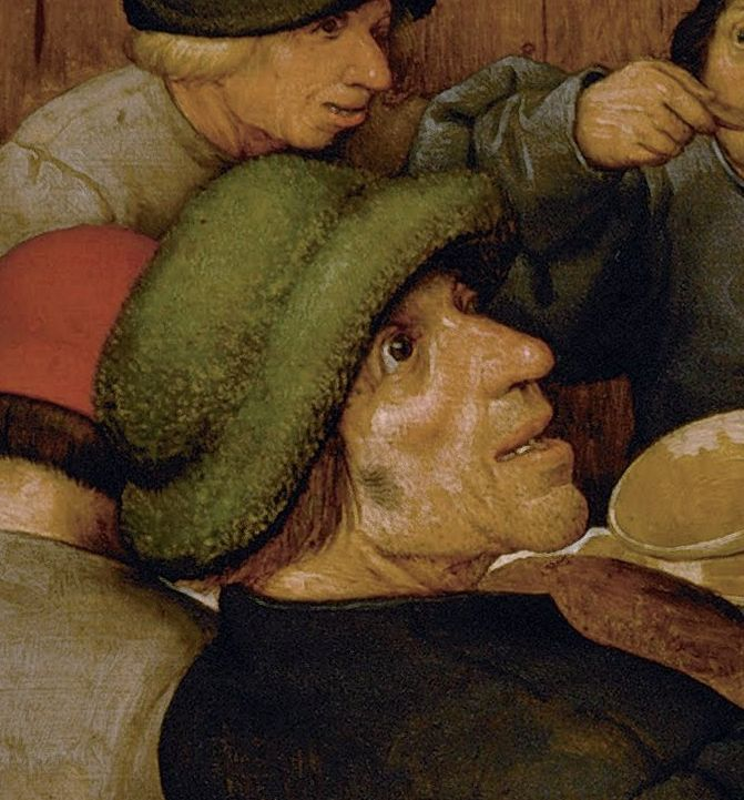Peasant Wedding Pieter Bruegel Elder detail2
